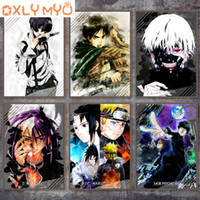 5D DIY Diamond Bordado Anime Naruto Imagen de dibujos animados Full Diamond Painting Cross Stitch Noragami Yato Tokyo Ghoul 91 días 20112