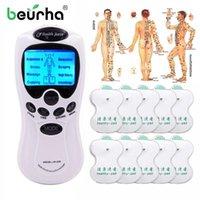 Beurha Tens Electronic Tens Agopuntura Body Neck Massage Massaggio Digital Therapy Machine per retro collo Gamba Massager Assistenza sanitaria Muscolo relax1