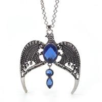 Toptan-Ravenclaw Kolye Horcrux Vintage Antik Gümüş Kartal Taç Diadem Kolye Moda Takı Hayranları Için Parti Gift1