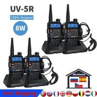 Original real 8w baofeng uv 5r walkie talkie uv5r banda dupla vhf / uhf136-174mhz400-520mhz2400-520mhz 128ch presunto rádio entrega rápida sem atraso