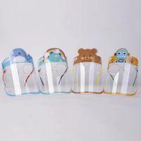 Crianças Crianças completa Rosto Glass Shield Anti-Fog Limpar Proteção máscara dos desenhos animados completa Facial tampa com vidro máscaras projeto EEC2842