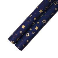 Imballaggio carta regalo decorativo metallico colore scuro blu carte stelle stelle albero natale modello stampa regali di partito oro nuovo arrivo 0 66WK N2