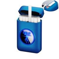 Zigarettenkiste Box Elektrische Feuerzeug Für Rauchen USB Wiederaufladbare Feuerzeug Wasserdichte Feuerzeug Fall Elektronische Gadgets für Männer