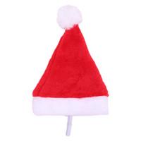 Домашние животные Рождественские шапки Xmas Small Plush Santa шляпа для домашних животных кошачьи шляпа с рождественскими украшениями для домашней кепки с новым годом подарок GGB2369