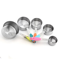 Stainless Measure Cups and Spoons in Set Kitchen Baking Meas...