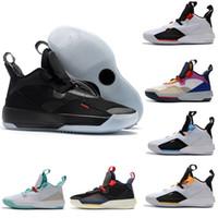 Toptan Yeni Jumpman XXXIII 33 Erkek Basketbol Ayakkabı Yüksek Kalite 33 S Renkli Siyah Beyaz Yeşil Sarı Eğitmenler Sneakers Boyutu 40-46