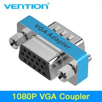 VENTION VGA Coupleur 15 broches VGA mâle à l'adaptateur Famle HD15 Femme au sexe féminin avec plaqué or pour PC TV SVGA Adapter1