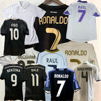 Retro Classic Real Madrid Soccer Jerseys Zidane 1998 1999 2000 02 03 04 05 07 08 2010 2011 2012 2012 2014 2015 16 17 Retro Football Hemd