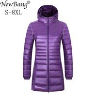 NewBang Марка 6XL 7XL 8XL Плюс Размер вниз пальто Женщины Long Winter Ultra Light вниз куртка женщин с капюшоном куртки перо Теплые пальто 200930