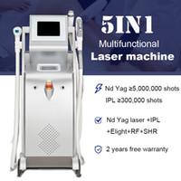 ND YAG ليزر الوشم إزالة IPL OPT SHR مزيل الشعر السريع ekight الجلد تجديد الأوردة تخفيض معدات RF LLLT
