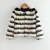 ARLONEET Kind-Baby Furry-Pelz-Mantel verdicken Wasserfall Winter warme Kleidung aus weißen Kunstpelz Thick Splice Mantel Outwear CO18