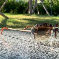 بدون شفة نظارات رجالية نساء سلك جيم الماس مثل كارتر الشمس نظارات الراين الأزياء الفاخرة نظارات شمسية ظلال النظارات