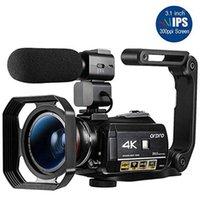 كاميرا فيديو ساخنة 4K كاميرات الفيديو كاميرا VLOG ORDRO AC3 30X رقمي تكبير للرؤية الليلية فيلمادورا ل YouTube Video Blogger1