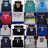 2021 جديد جا صهيون 12 مورانت RJ جيرسي 1 ويليامسون 9 باريت 1 أنتوني إدواردز سيتي editon كرة السلة جيرسي قمصان