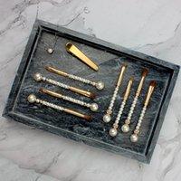 메이크업 브러쉬 진주 크리스탈 라인 스톤 골드 12PC 브러쉬 전문 메이크업 브러쉬 세트 Pincel Maquiagem 미용 도구를! 키트 구성