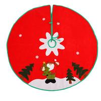 100cm Cousu Père Noël Jupe flocon de neige de Noël Petit Rouge Arbre tissé novembre Jupe nouvelle année 2020 Décoration de Noël pour la maison