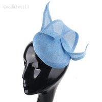 Sombreros delanteros sombreros imitattion encantador cabeza mujer formal fedora tapa novia bodas fascinatorators Headwee Vent Millinery para damas