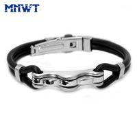 Bracelets de chaîne de liaison MNWT Mode Hommes en acier inoxydable bracelets Banglande de bracelet de bracelet de bracelet de bracelet de bracelet motocycliste punk rock bracelet1