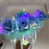 Regali creativi di San Valentino regali presente regalo di compleanno illuminato Glowing Rose Flower Stick colorato fiori artificiali VTKY2323