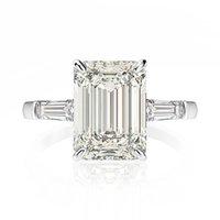 OEVAS обручальное кольцо 7ct Создано Муассанит бриллиантовое обручальное кольцо Твердые 925 стерлингового серебра изящных ювелирных изделий Дамы Годовщина подарков