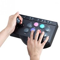 تحكم ألعاب المقود 0082 usb quipstic سلكي ل ps3 // xbox one / pc arcade القتال عصا عصا gamepad gaming controller1