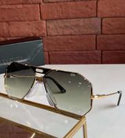 خمر 905 النظارات الشمسية أسطورة الذهب الأسود الأخضر التدرج occhiali دا الوحيد firmati رجل النظارات الشمسية عالية الجودة مع مربع