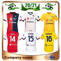 20/21 Cagliari Calcio Soccer Jersey 2021 홈 Joao Pedro Simeone Nainggolan Shirt Limited Edition Nandez Pavoletti 축구 유니폼