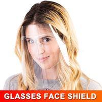 Transparente PET-Gläser Gesichtsschutz-Abdeckung Schutzmaske Sicherheitsgesichtsschutz voller Gesichts-Abdeckungs-Schutz-Film-Werkzeug Anti-Nebel