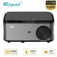 Projektörler Rigal RD828 1080 P Full HD Projektör Wifi Multiscreen Projetor Yerli 1920 x Smartphone Beamer 3D Ev Tiyatrosu Video Sinema