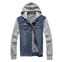 Nuovo giacca in denim uomo con cappuccio sportswear all'aperto all'aperto casual moda jeans giacche giacche con cappuccio cowboy mens giacca e cappotto plus size 5xl