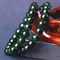 50 stücke Frauen Mädchen Universum Galaxie Grün Sandstein 6mm 8mm 10mm 12mm Runde Wulst Armband Synthetische Kristall Sandstein Perlen Stretch Armband