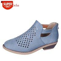 Aphixta Summer Spring Schuhe Frau Pumps Peep Toe Sandalen Frauen Reißverschluss Chunky Square Heel Ankle Booties Womans Sandalen plus Größe 43 # Me6k