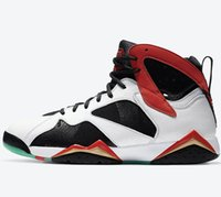Avec Box 2020 Mens Basketball Chaussures Sneakers 7s Chine CW2805-160 BLANC NOIR GREEN TAILLE TAILLE HOMME SORTIS chaussures de sport US7-13
