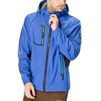 Зимние мужчины осенью лыжа на лыжах теплый пиджак повседневная мода твердая молния hodded водонепроницаемый быстрый дышащий спортивный открытый пальто # g41