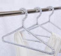 أزياء ملابس الاكريليك الخرز شماعات النساء تنورة فستان العرض سيدة الملابس كريستال المعلقون شحن مجاني