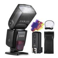 Andoer AD560 IV Pro On-câmera Speedlite Flash Light Gatilho Flash Cor Filtros Difusor Hot Shoe para câmera
