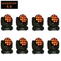 TIPTOP 8pcs / lot kafası hafif RGBW 4in1dmx ışın yüksek parlaklık Yüksek güç ışın etkisi sahne disko led aydınlatma hareketli 12x12w LED