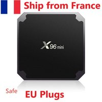 سفينة من فرنسا X96 مصغرة الروبوت صندوق تلفزيون amlogic S905W رباعية النواة 2 جرام 16 جيجابايت 2.4 جرام H.265 واي فاي مربع التلفزيون الذكي