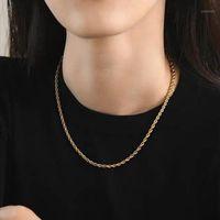 Nuovo arrivo acciaio inox in acciaio inox catena collana bohémien moda coppia gioielli vendita diretta vendita diretta a buon mercato1