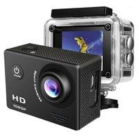 """스포츠 액션 비디오 카메라 HD 1080P 카메라 2.0 """"LCD 화면 140D 각도 이동 수중 30m 프로 방수 스포츠 녹화 카메라 1"""