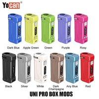 Più nuovo 11 colori 100% originale YOCAN UNI PRO S Box MoD 650mAh Preheat VV Vape Batteria per tutti i 510 Cartuccia del filo Cartuccia Genuine