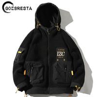 GoesResta Yeni erkek Moda Gelgit Marka Kalın Sokak Vahşi Sonbahar Ve Kış Gevşek Sıcak Ceket Erkekler 201114