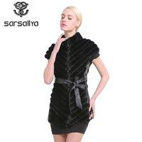 SARSALLYA Moda Kadınlar gerçek Kürk Yelek Yelek Tam Pelt Kış Gilets Yeni Kolsuz ceketler için Kadın
