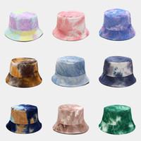 INS Invierno Corbata Dye Hat Mujeres Doble cara Pesca Tapas Tinte Pequeño Pescadores Caps Sun Prevención Sombrero Moda Hombre de verano Sombreros