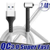 2.4a Superfast Charging Type C Micro USB Cable Cable Cable Fast Charger Supporto Cavo per telefoni cellulari