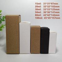 Boş Kağıt Kutusu DIY Yüz Kremi Emülsiyon Sprey Şişe Paketi Vana Tüpleri için Kozmetik Hediye Kutuları - Siyah Beyaz Kraft Opsiyonel1