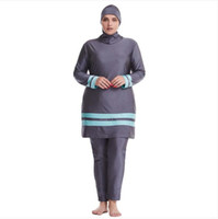 Abbigliamento etnico 3pc Plus Size Swimwear musulmano ISLAMIC Swimming Sportswear Costume da bagno Modest Swim Girls Burkini Tesettur Mayo Lungo pieno
