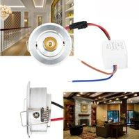 Lampe de câble de plafonnier de plafonnier à LED encastré 3W Mini Downlight AC 85V-265V High Power Power Neutre Blanc chaud