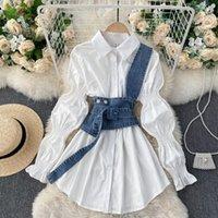 المرأة البلوزات قمصان الربيع قميص الأزياء كم طويل خمر روبا دي موهير قمم سيدة الملابس camisas الكورية بلوزة Q755