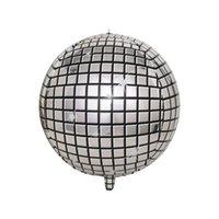 em estoque de alumínio cor balão filme de 22 polegadas de alumínio 4D estéreo folha gradiente bola cor disco balão decoração de festa de aniversário é redonda